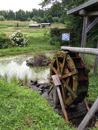 天野池の水車