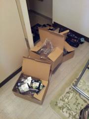 小さな荷物に大きな箱
