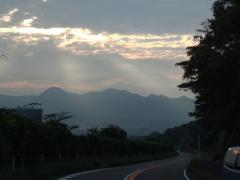 復路 久し振りに見た富士山の雄姿