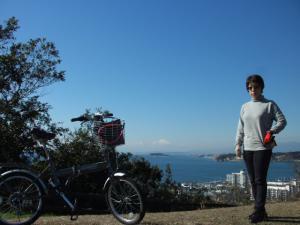 ふぅ3号と富士山と江の島とふぅ