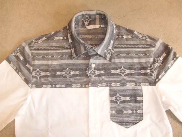 rehacer Switching color shirt gray ft1