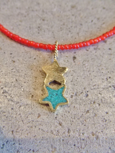 rehacer Vintage beads necklace Star1
