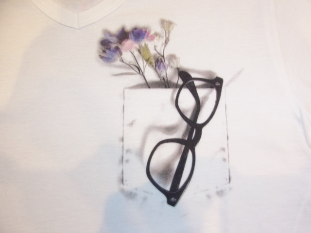 rehacer Flower glasses ss Tee Ptp