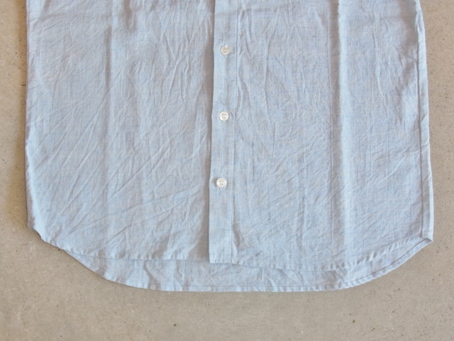 rehacer 8 sleeve linen shirt Lblue ft2