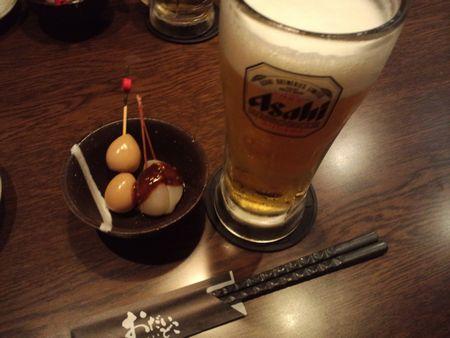 生ビール&お通し