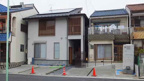 0567名古屋市中村区「中庭を眺める家」外観