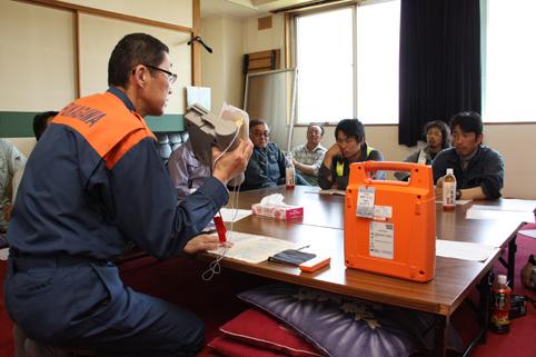 20120608北央道路工業㈱が救急救命講習を実施