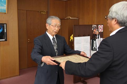 20120703松田眞一郎前社会福祉協議会会長に感謝状