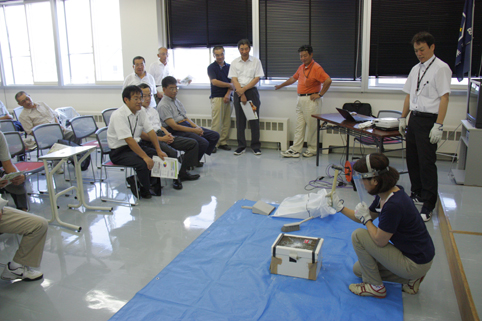 20120822自分の身は自分で守る!実践型防犯教室