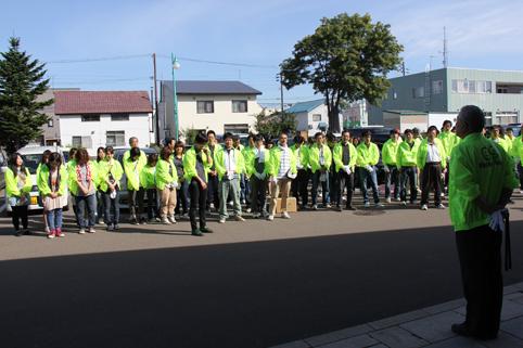 20120908北空知信用金庫の役職員がクリーン運動 (1)