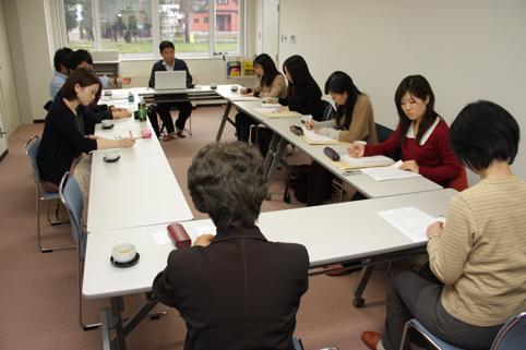 20121109青山学院大学の生徒が沼田町を訪れる