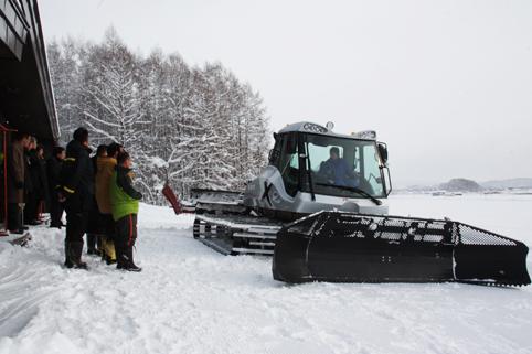 20121219高穂スキー場圧雪車入魂式・安全祈願祭