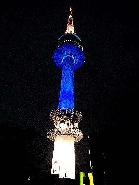 韓国,ソウル,観光,ソウルタワー,夜景,画像