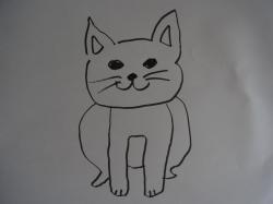 犬猫の絵縮小