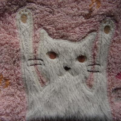 彫刻ハンカチ猫縮小