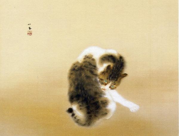 墨絵猫縮小