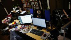 おびおの机の上