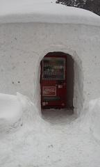 平家の庄雪の中に自販