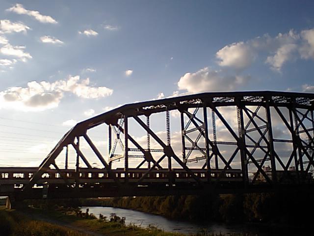 夕暮れの澱川橋梁3