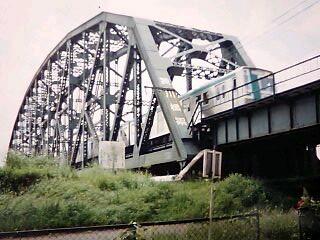 夕暮れの澱川橋梁4