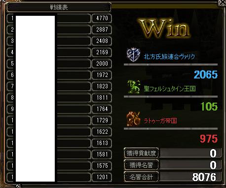 2012/12/1 精鋭戦夕 結果