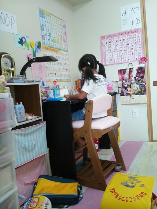 勉強部屋の様子(模様替え前)