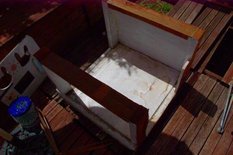 ウサギ小屋解体201203