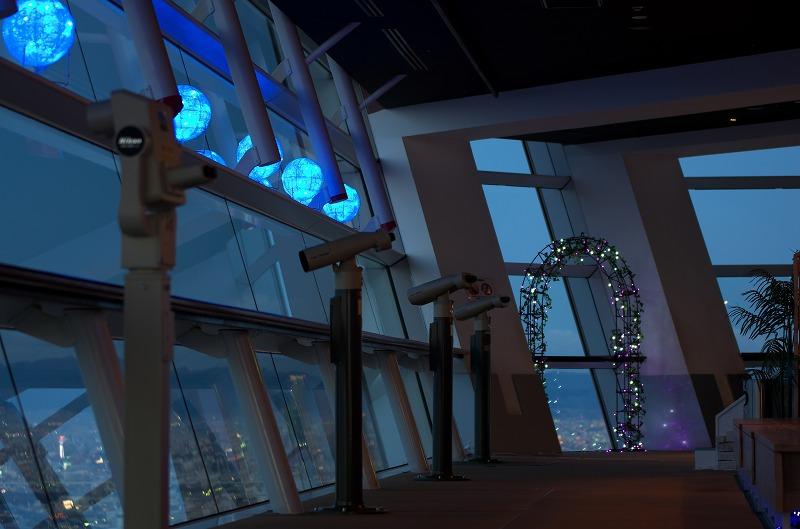 大阪府咲洲庁舎展望台 展望ルーム 夜