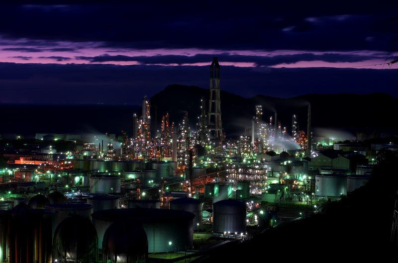 東燃ゼネラル和歌山工場 初島 夜景
