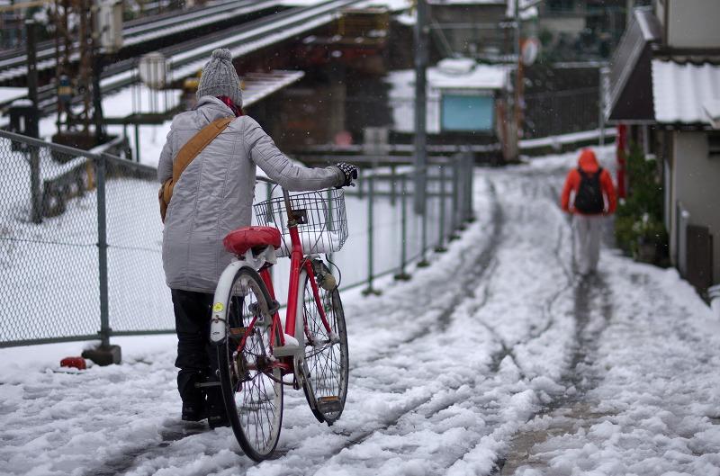 近鉄沿線雪景色