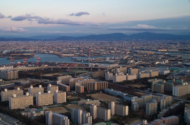 大阪府咲洲庁舎展望台 眺望 梅田 大阪市内