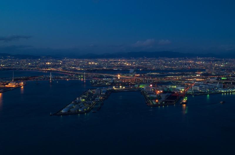大阪府咲洲庁舎展望台 夜景 梅田 大阪市内