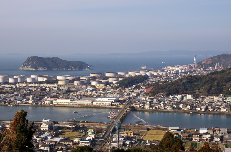 和歌山県有田市 オレンジ i 眺め・眺望