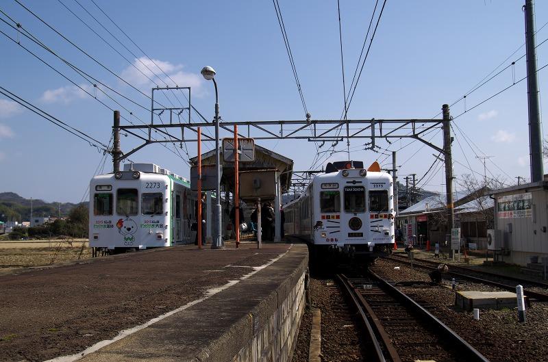 和歌山電鐵 伊太祈曽駅 きいちゃん電車 たま電車