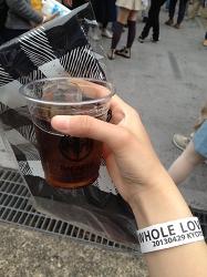 梅酒+コーラで「すっぱい思ひ出」だそう。透き通った割り氷が入ってて本格的