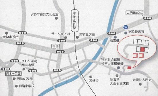 H24年7月14~17日ニュータウン伊勢岩渕 ライセホーム見学会 地図