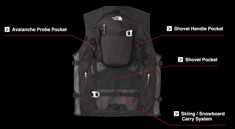the north face powder guide vest