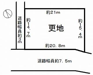 京田辺市田辺狐川 敷地図一括