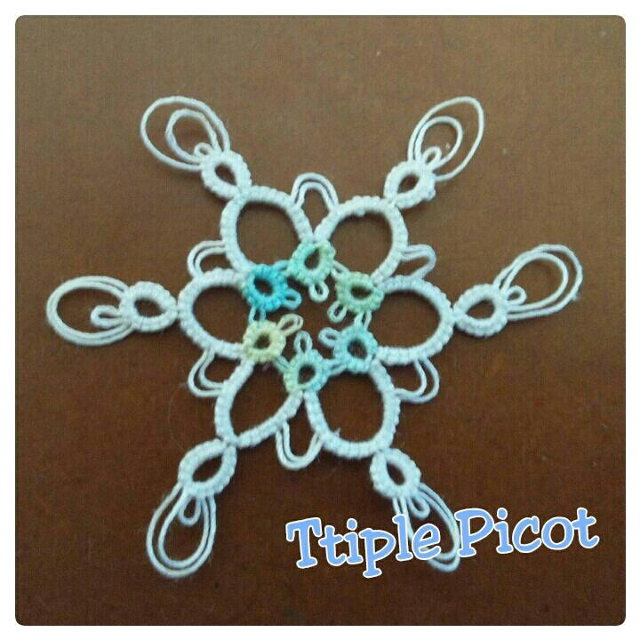 Triple Picot Snowflake