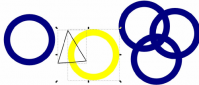 inkscapeでオリンピックの旗