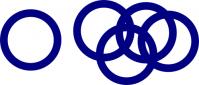 inkscapeでオリンピック旗