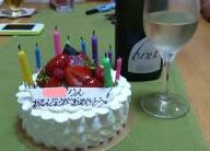 ケーキとワイン