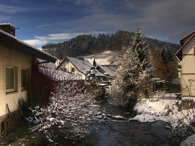 フランスの小さな村のクリスマス