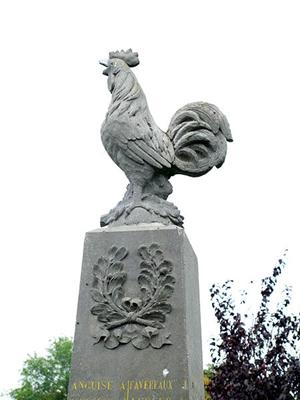 ガロアの雄鶏の像
