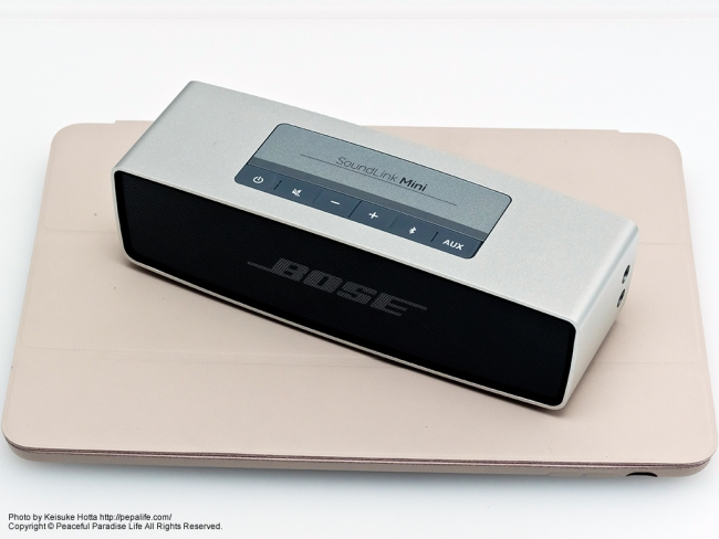 BOSE SoundLink Mini Bluetooth speaker と iPad Air