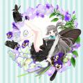 蝶の女の子