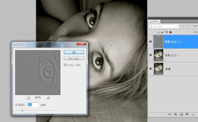 写真を輪郭線をキープしつつ、ぼかすPhotoshopテクニック
