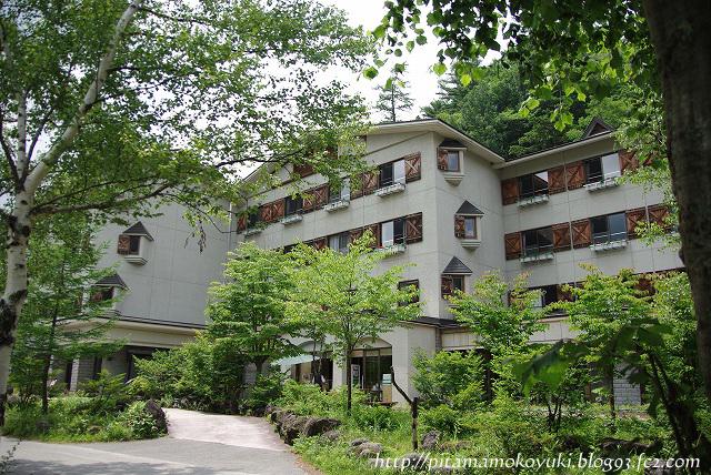 上高地のホテル120818-1
