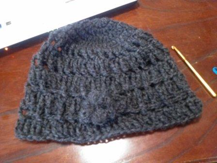 手編み帽子1