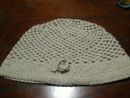 手編み帽子4